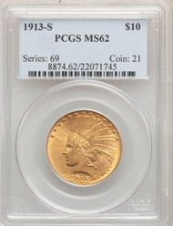 1913-S $10 Gold Indian PCGS MS62 - 295434002