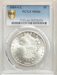1884-CC S$1 Morgan Dollar PCGS MS66 - 512534090