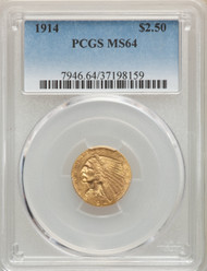 1914 $2.5 Gold Indian PCGS MS64 - 296871031