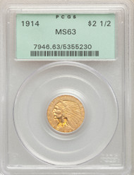 1914 $2.5 Gold Indian PCGS MS63