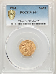 1914 $2.5 Gold Indian PCGS MS64 - 741142028