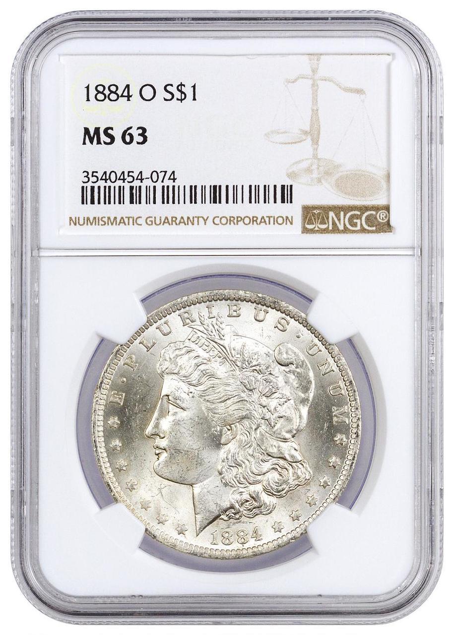 Pre-21 Morgan Silver Dollar PCGS MS63
