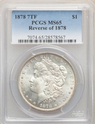 1878 7TF S$1 Morgan Dollar PCGS MS65 Reverse of 1878 - 741479082