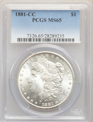 1881-CC S$1 Morgan Dollar PCGS MS65 - 741482079