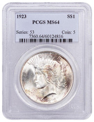 Peace Dollar PCGS MS64 (Mixed Dates)