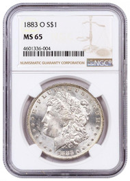 Pre-21 Morgan Silver Dollar NGC MS65