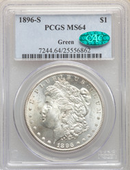 1896-S S$1 Morgan Dollar PCGS MS64 CAC - 740743013