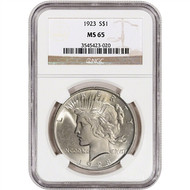 Peace Dollar NGC MS65 (Mixed Dates)