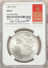 1881-CC S$1 Morgan Dollar NGC MS67