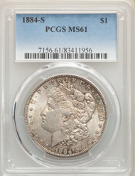 1884-S S$1 Morgan Dollar PCGS MS61