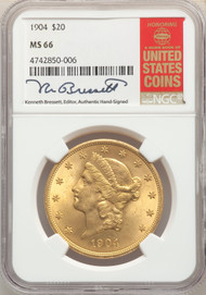 1904 $20 Gold Liberty NGC MS66