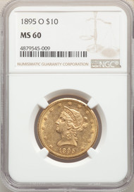 1895-O $10 Gold Liberty NGC MS60