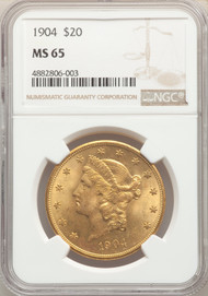 1904 $20 Gold Liberty NGC MS65 - 741786040