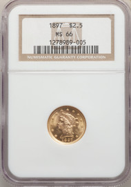 1897 $2.5 Gold Liberty NGC MS66