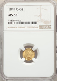 1849-O G$1 Gold Liberty Head NGC MS63 - 741542017