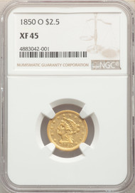 1850-O $2.5 Gold Liberty NGC XF45