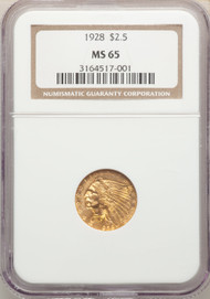 1928 $2.5 Gold Indian NGC MS65 - 741247003