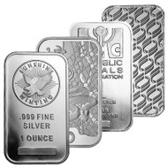 1 oz Silver Bar (Design Varies)