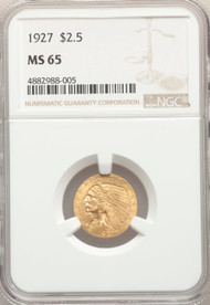 1927 $2.5 Gold Indian NGC MS65 - 741740047