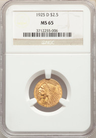 1925-D $2.5 Gold Indian NGC MS65 - 741740048