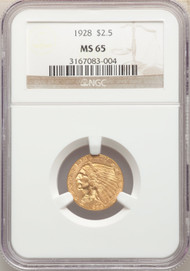 1928 $2.5 Gold Indian NGC MS65 - 741740049