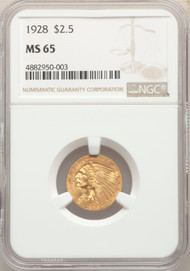1928 $2.5 Gold Indian NGC MS65 - 741740050