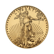 2019 1/2 oz American Gold Eagle Coin (BU)