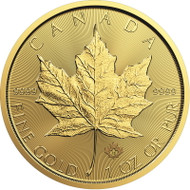 2019 1 oz Canadian Gold Maple Leaf Coin (BU)