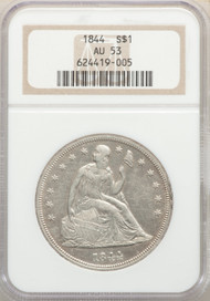 1844 S$1 Seated Liberty Dollar NGC AU53 - 741681046
