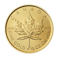 1/2 oz Canadian Gold Maple Leaf (Random Year, BU)