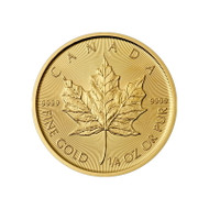 1/4 oz Canadian Gold Maple Leaf (Random Year, BU)