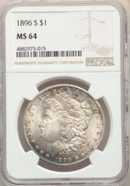 1896-S S$1 Morgan Dollar NGC MS64
