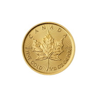 1/10 oz Canadian Gold Maple Leaf (Random Year, BU)