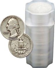 90% Silver Washington Quarter Circulated- Roll of 40