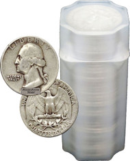 90% Silver Washington Quarter Circulated - Roll of 40
