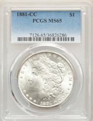 1881-CC S$1 Morgan Dollar PCGS MS65 - 296954008