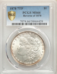 1878 7TF S$1 Morgan Dollar PCGS MS66 Reverse of 1878 - 297390004