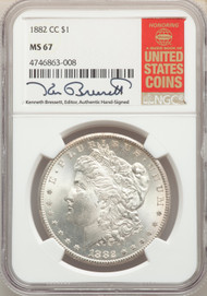 1882-CC S$1 Morgan Dollar NGC MS67 - 512541004