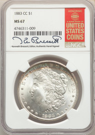 1883-CC S$1 Morgan Dollar NGC MS67 - 512541010
