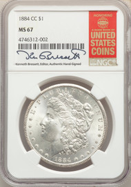 1884-CC S$1 Morgan Dollar NGC MS67 - 512541012