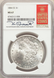 1884-CC S$1 Morgan Dollar NGC MS67 - 512541013