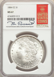 1884-CC S$1 Morgan Dollar NGC MS67 - 512541014