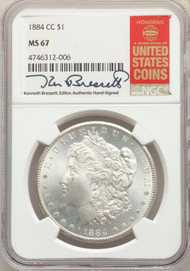 1884-CC S$1 Morgan Dollar NGC MS67 - 512541015