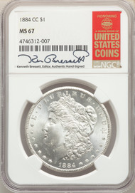 1884-CC S$1 Morgan Dollar NGC MS67 - 512541016