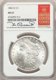 1884-CC S$1 Morgan Dollar NGC MS67 - 512541021