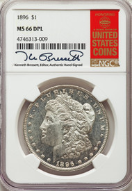 1896 S$1 Morgan Dollar NGC MS66DPL