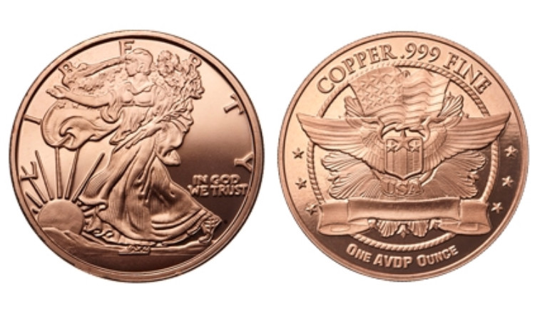 Indian Penny and Liberty Lot of 2 Copper Rounds .999