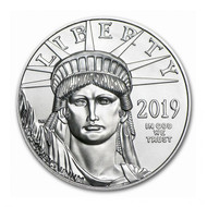1 oz American Platinum Eagle Coin (Random Year, BU)