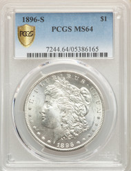 1896-S S$1 Morgan Dollar PCGS MS64 - 741284042