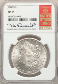 1887-S S$1 Morgan Dollar NGC MS65
